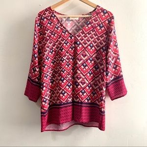 Everly• Geometric print blouse